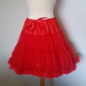 Dresses & Skirts - EUC Women's Red Frill Costume Skirt